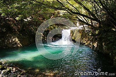 Naturtal hot spring spot