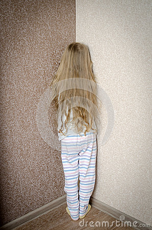 Credit Cards For Bad Credit >> Naughty Little Girl Is Standing In The Corner Punished Stock Photo - Image: 64873984