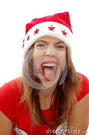 Free Naughty Santa Girl Royalty Free Stock Images - 3347689