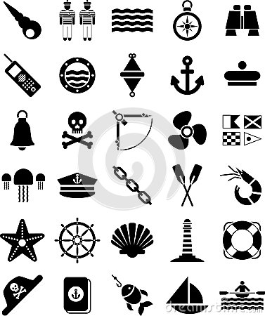 Free Nautical And Marine Icons Stock Image - 24786411