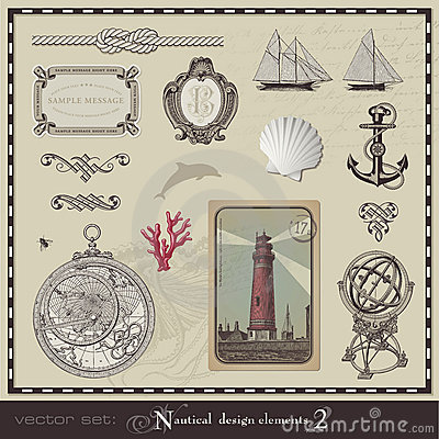 Nautical design elements (set 2)