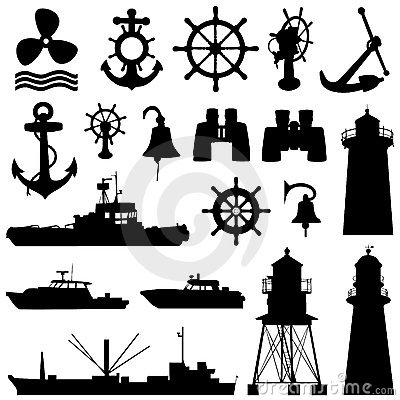 Free Nautical Elements Vector Stock Photography - 8419632