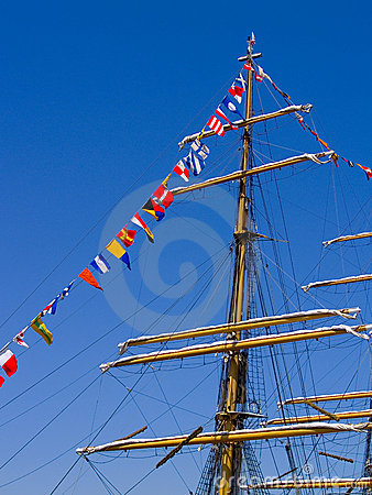 Nautical Flags and Mast