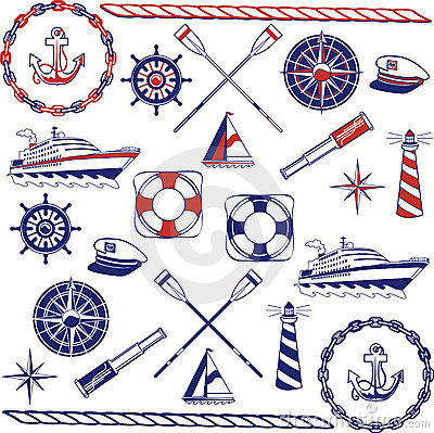 Free Nautical Icon Set Royalty Free Stock Photo - 16154375