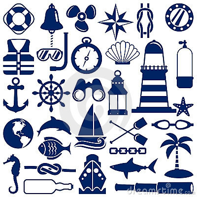 Free Nautical Icons Royalty Free Stock Photography - 20643677