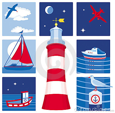 Nautical icons (Set 1)