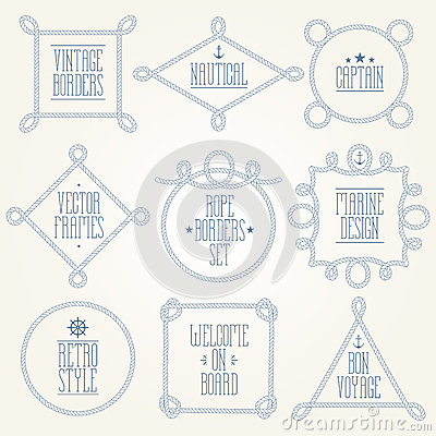 Free Nautical Rope Borders Royalty Free Stock Photography - 81978697