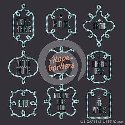 Free Nautical Rope Borders Royalty Free Stock Images - 81982929