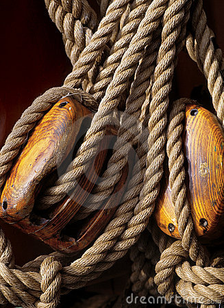 Nautical ropes and pulleys