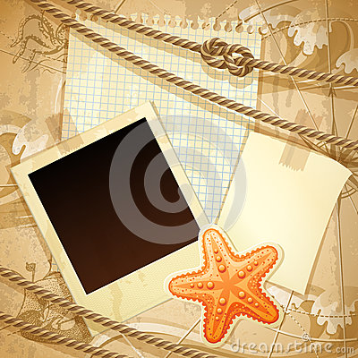 Nautical scrapbook template