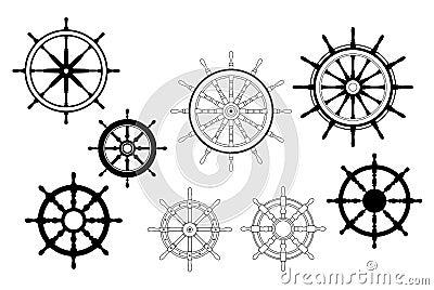 Nautical ships wheels