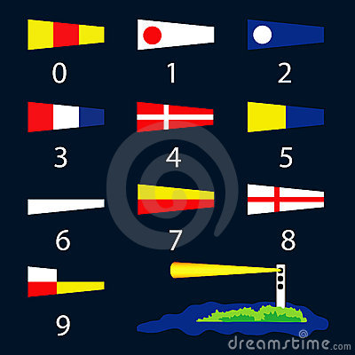 Nautical signal flags - numbers