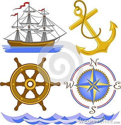 Free Nautical Symbols/eps Stock Photography - 12463062