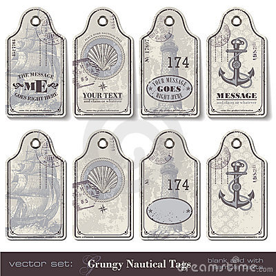 Free Nautical Tags Royalty Free Stock Photography - 19809327