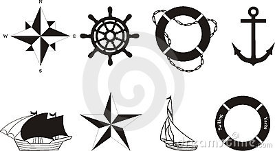 Nautical vector & rasterized symbols