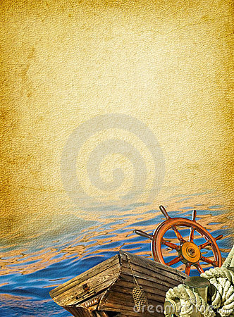 Free Nautical Vintage Background Royalty Free Stock Image - 19583486