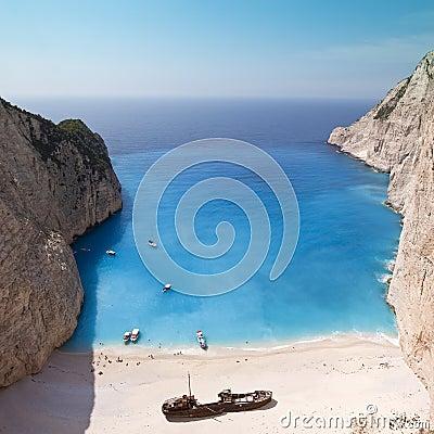 Free Navagio Beach Ionian Sea Royalty Free Stock Photo - 10021135