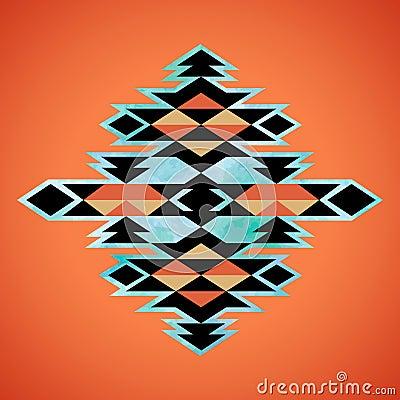 Free Navajo Aztec Textile Inspiration Pattern. Native American Indian Royalty Free Stock Photos - 52738678