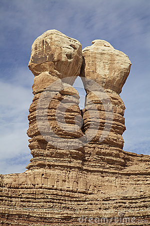 Navajo Twins Rock Formation