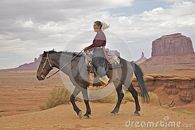 Navajo Woman at Monument Valley