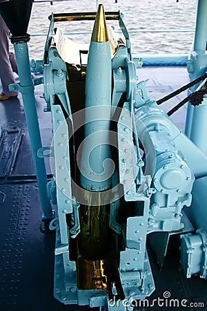 Naval artillery loader