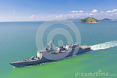 Naval destroyer