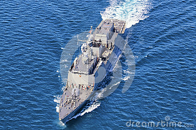 Naval destroyer Editorial Stock Image