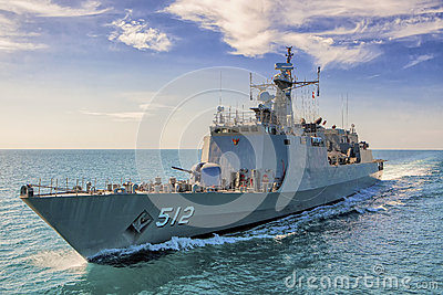 Naval destroyer Editorial Photography
