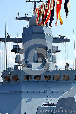 Free Naval Flags On A Warship Stock Photography - 44118702