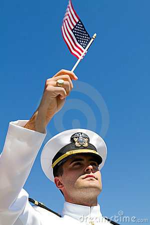 Free Naval Officer Flag Royalty Free Stock Photos - 21125018