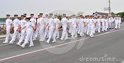 Naval Officers Editorial Stock Photo