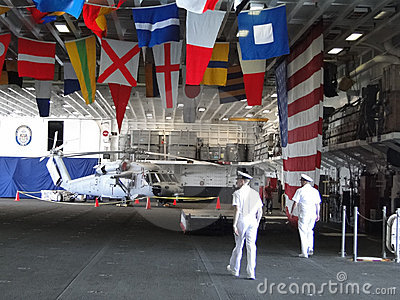 Naval officers hold an open house Editorial Stock Photo