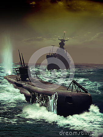 Free Naval Pursuit Stock Photography - 32599852