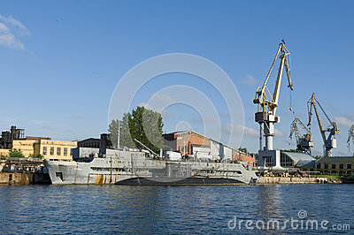 Naval shipyard Saint Petersburg Editorial Photography