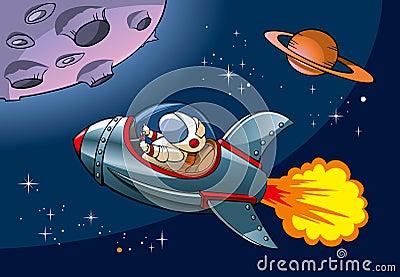 Nave espacial dos desenhos animados