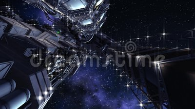 Nave espacial interestelar futurista
