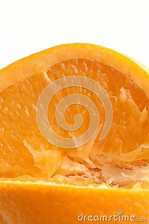 Navel orange macro