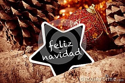 navidad de feliz joyeux no l dans l 39 espagnol photo stock. Black Bedroom Furniture Sets. Home Design Ideas