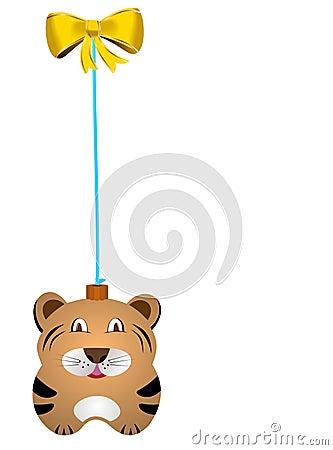 Navidad fur-tree toy tiger