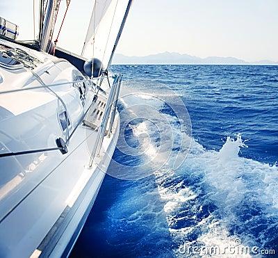 Navigação. Yachting. Estilo de vida luxuoso