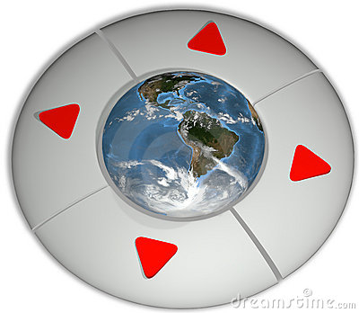 Navigate Earth Direction Environment Buttons