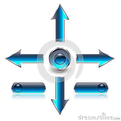 Navigation arrows, web buttons