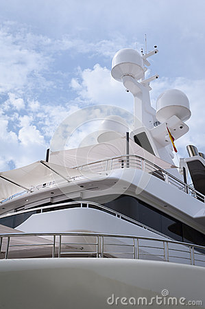 Navigation equipment on a luxury yacht