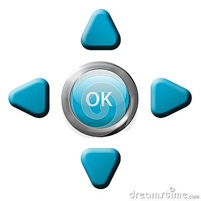 Navigation OK arrow remote control buttons