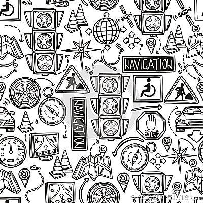 Free Navigation Seamless Pattern Stock Photos - 50594713