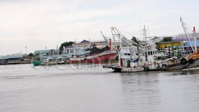 Navio de carga no mar, sakorn Tailândia de Samut filme