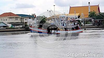 Navio de carga no mar, sakorn Tailândia de Samut vídeos de arquivo