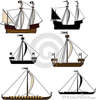 Navios de navigação medievais