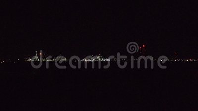Navodari Industrie-Stadtbild in der Nacht Constanta, Rumänien stock video