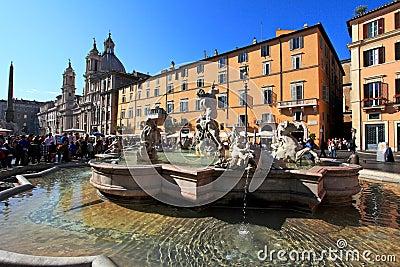 Navona piazza Zdjęcie Editorial